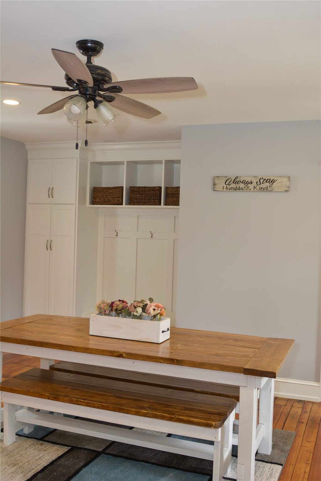 Dining Room with Built in Cabinets, Overhead Storage, and Hangars
